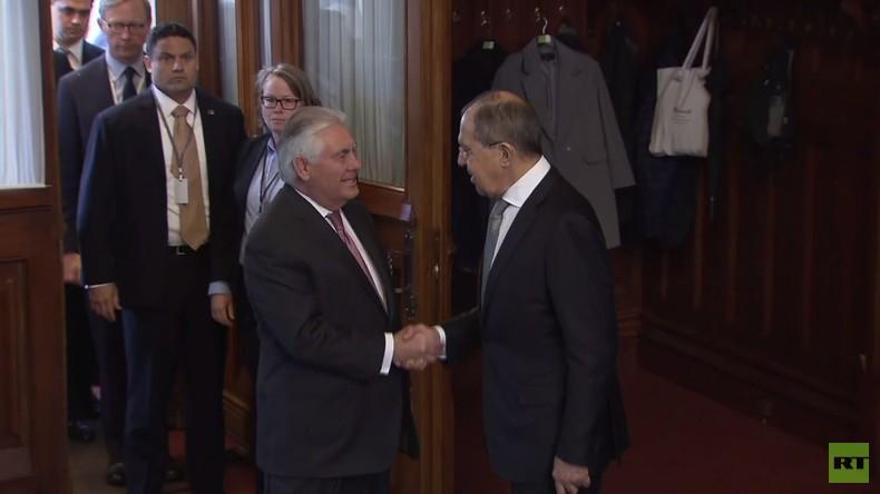 Russland: Lawrow begrüßt Tillerson in Moskau zu bilateralen Gesprächen
