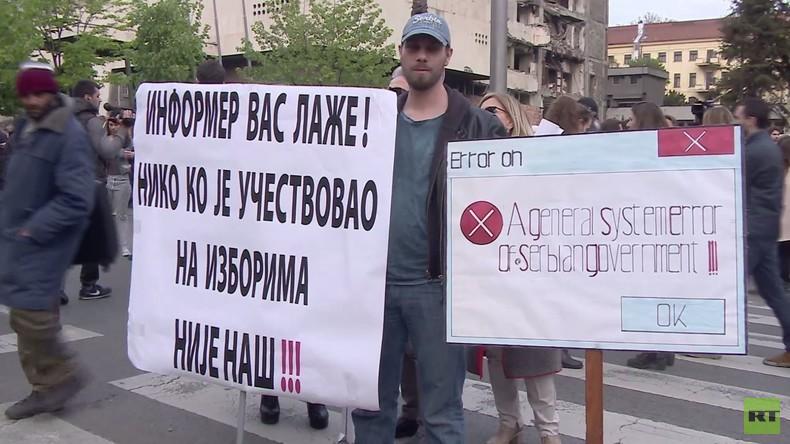 Serbien: Tausende demonstrieren in Belgrad gegen Regierung