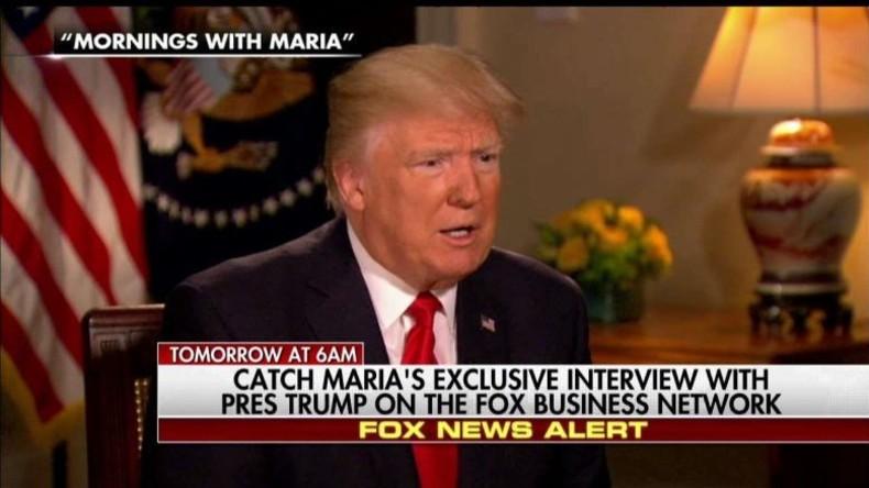 Trump im Fox-Interview: Beim Schokodessert mit Xi gab ich den Befehl zum Angriff auf Irak, äh Syrien