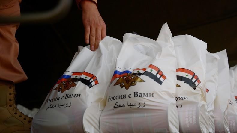 Russland liefert an Syrien 4,5 Tonnen Hilfsgüter