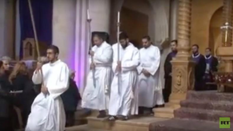 Syrien: Christen feiern Karfreitags-Gottesdienst im befreiten Aleppo