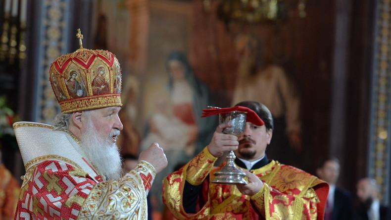 Live:Patriarch Kirill hält Orthodoxe Osterliturgie-Messe in Moskau