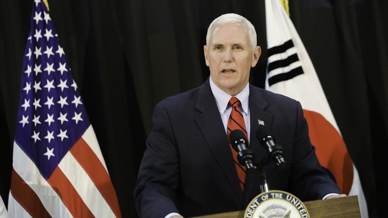 US-Vizepräsident Pence zu Nordkorea: Politik der strategischen Geduld beendet