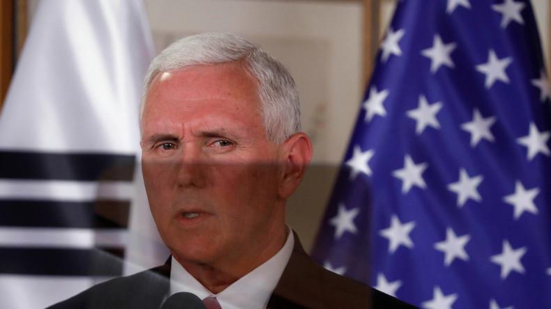 """US-Vizepräsident beendet die """"Ära der Geduld"""" mit Nordkorea und hofft auf die Chinesen"""