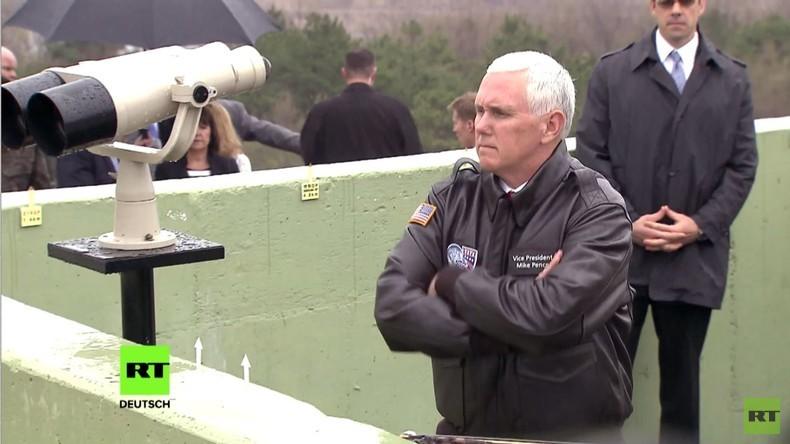 Südkorea: US-Vize Präsident Pence besucht demilitarisierte Zone an der nordkoreanischen Grenze