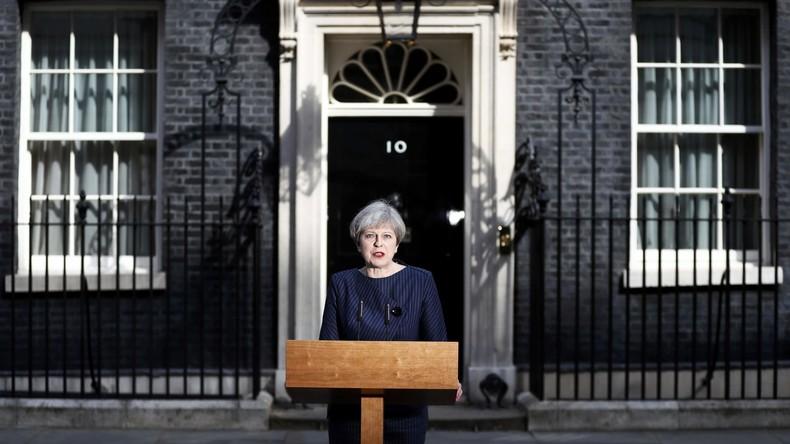 Britische Premierministerin May kündigt Neuwahlen für 8. Juni an