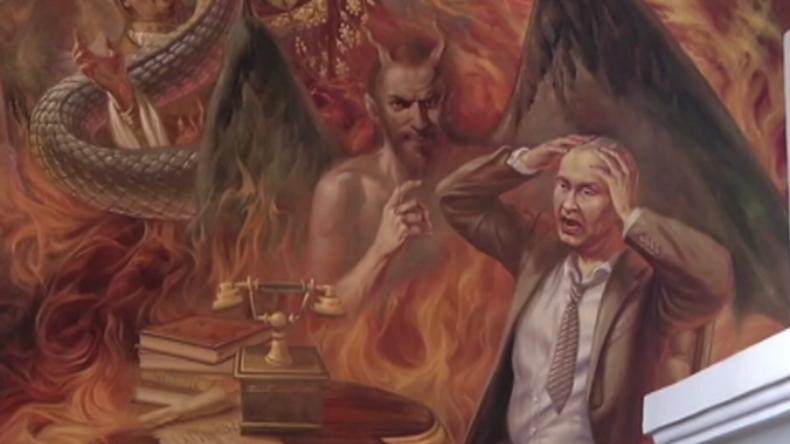 """""""Wladimir Putin der Antichrist"""" - Ukrainische Kirche enthüllt neues Gemälde"""
