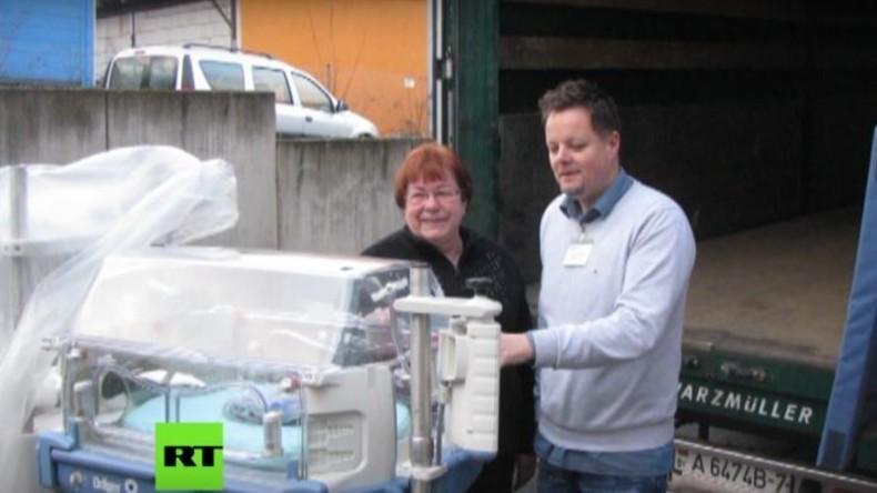 RT Spezial: Wie Krankenhausausrüstung aus Thüringen in das Kriegsgebiet Donbass kommt