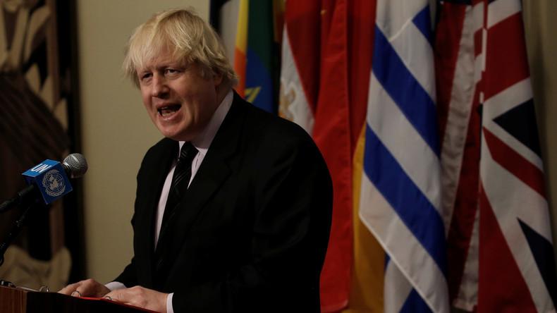 UK-Außenminister Boris Johnson zum Krieg gegen Syrien: Schwer nein zu sagen, wenn die USA uns bitten