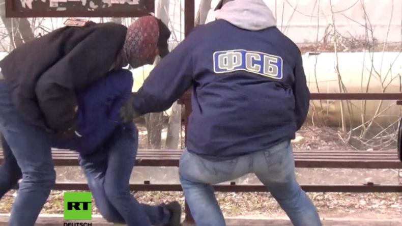 FSB ergreift Terrorverdächtigen in Moskau.