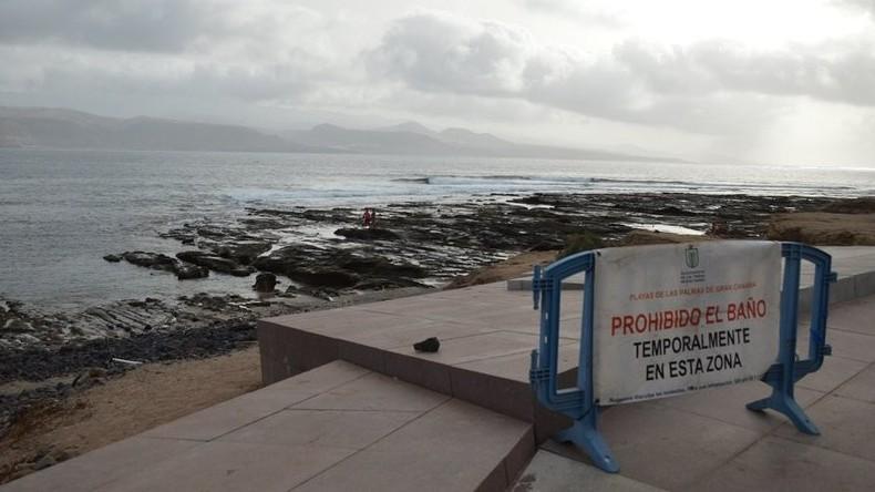 Spanische Behörden sperren mehrere Strände nach Schiffbruch vor Gran Canaria