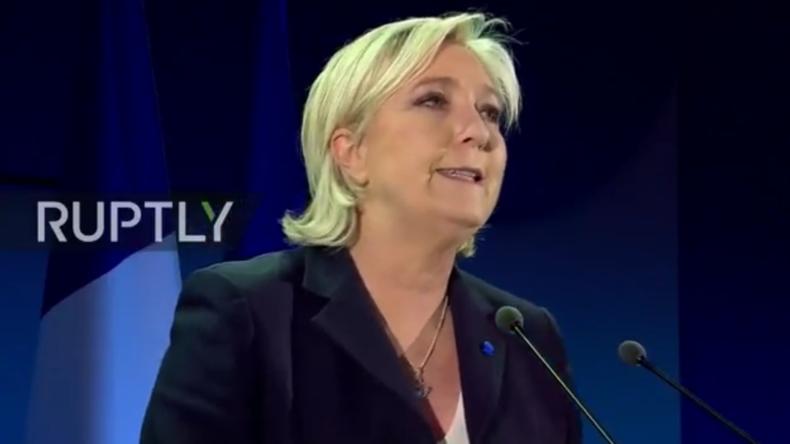 Präsidentschaftswahl in Frankreich: Le Pen hält Rede bei Wahlparty (engl. Übersetzung)