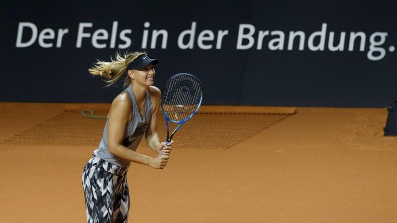 Tennis-Star Maria Scharapowa zurück auf dem Court
