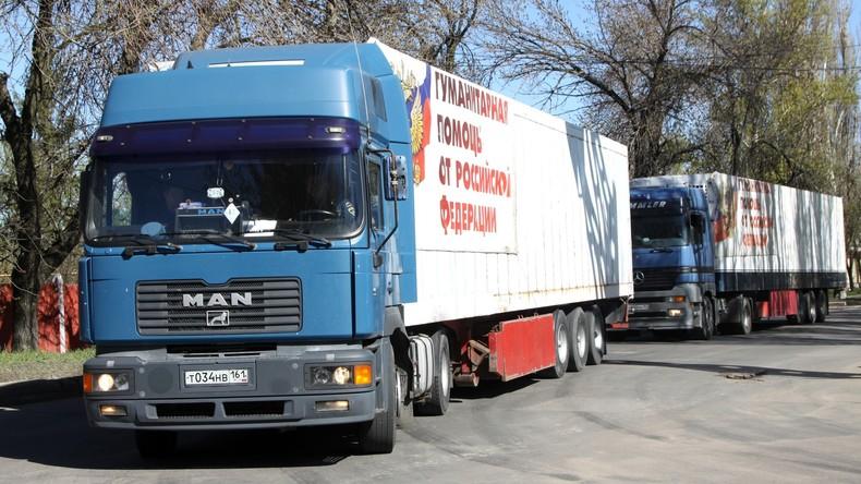 Russland schickt den 64. Hilfskonvoi in den Donbass