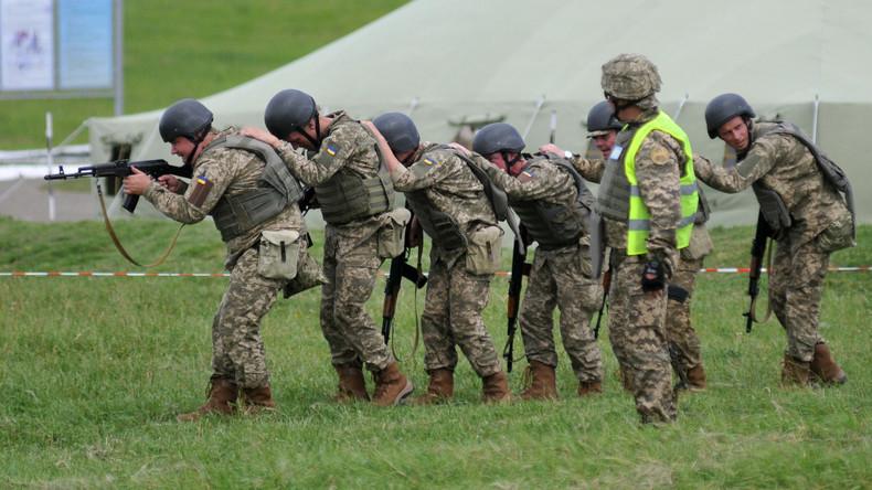 Ukrainische Streitkräfte führen Militärübungen unweit der Krim durch