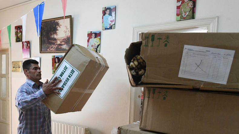 Russland überreicht Syrern sechs Tonnen humanitäre Hilfe