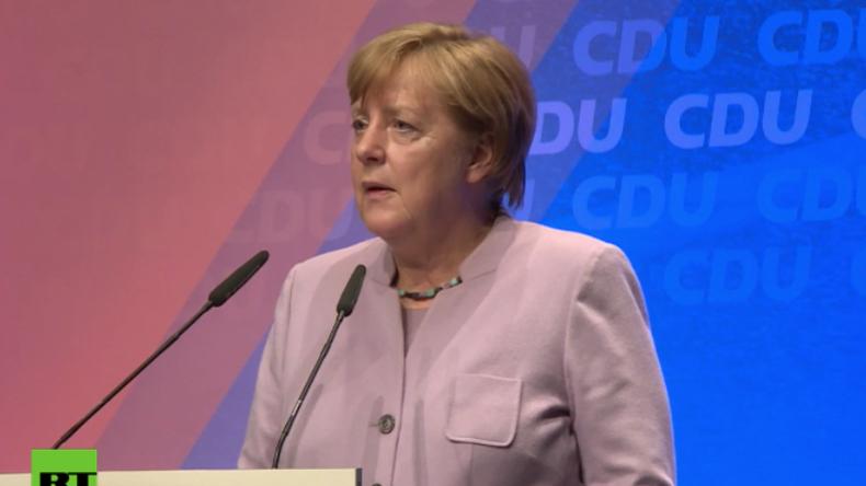 Merkel bei Wahlkampfveranstaltung in Beverungen.