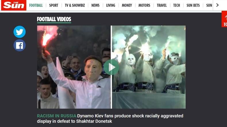"""""""Rassismus in Russland"""": The Sun blamiert sich mit Meldung über ukrainische Ultras"""