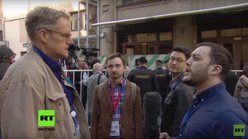 Anti-Putin-Kundgebung in Moskau: Wenige Teilnehmer, viele Journalisten