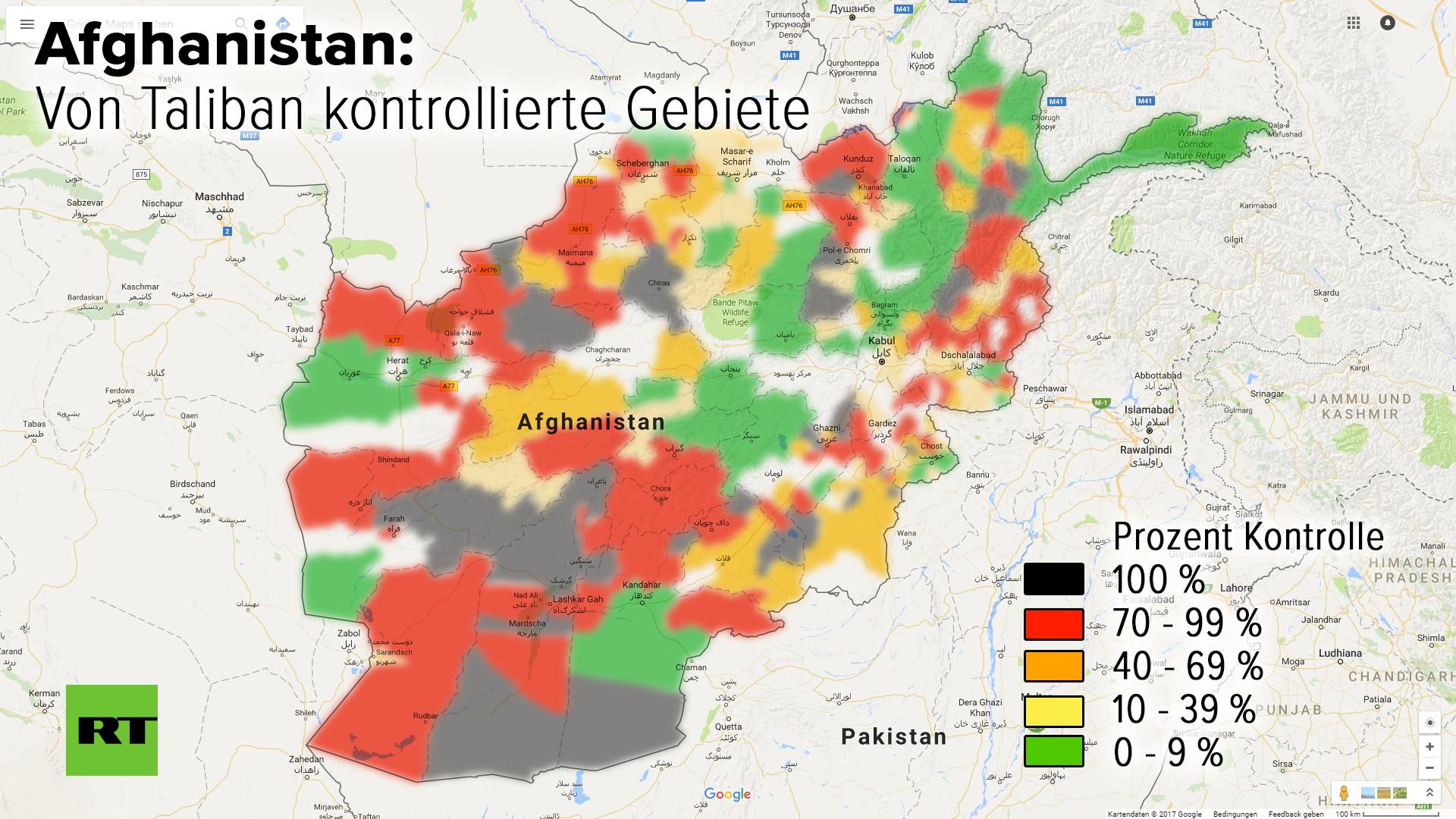 RT-Exklusiv: Taliban kontrollieren die Hälfte Afghanistans - USA trifft Mitschuld