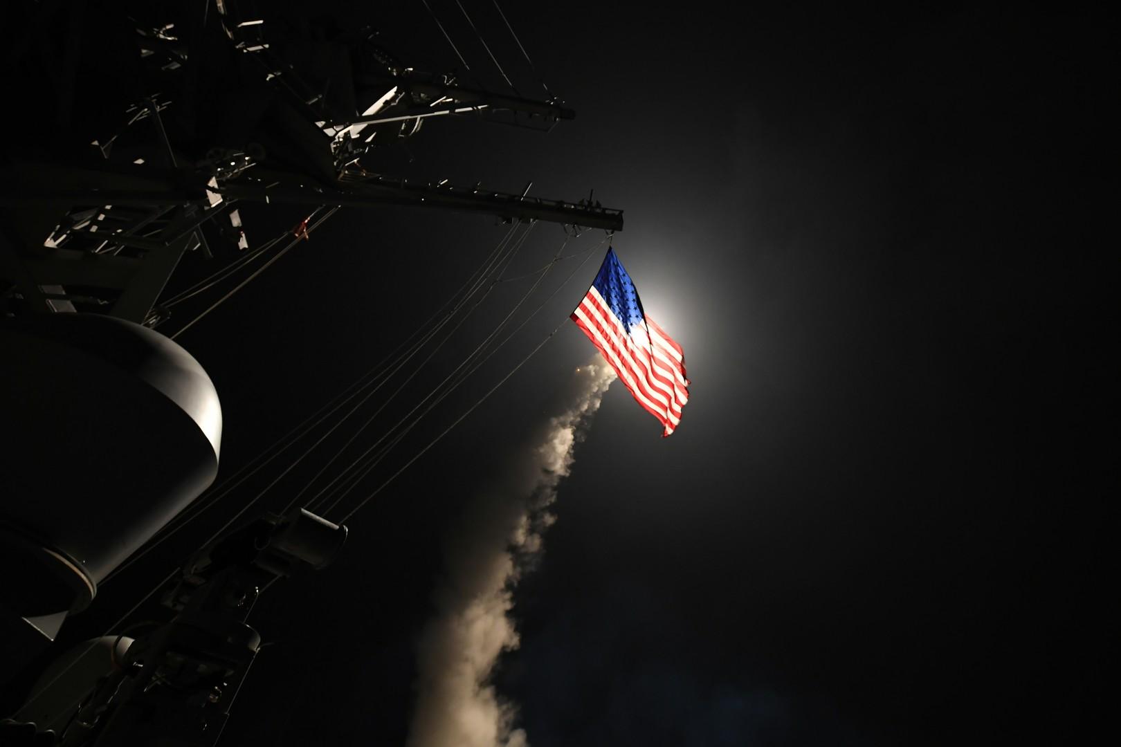 US-amerikanischer Zerstörer USS Porter (DDG-78) führt Anschlag im Mittelmeer aus