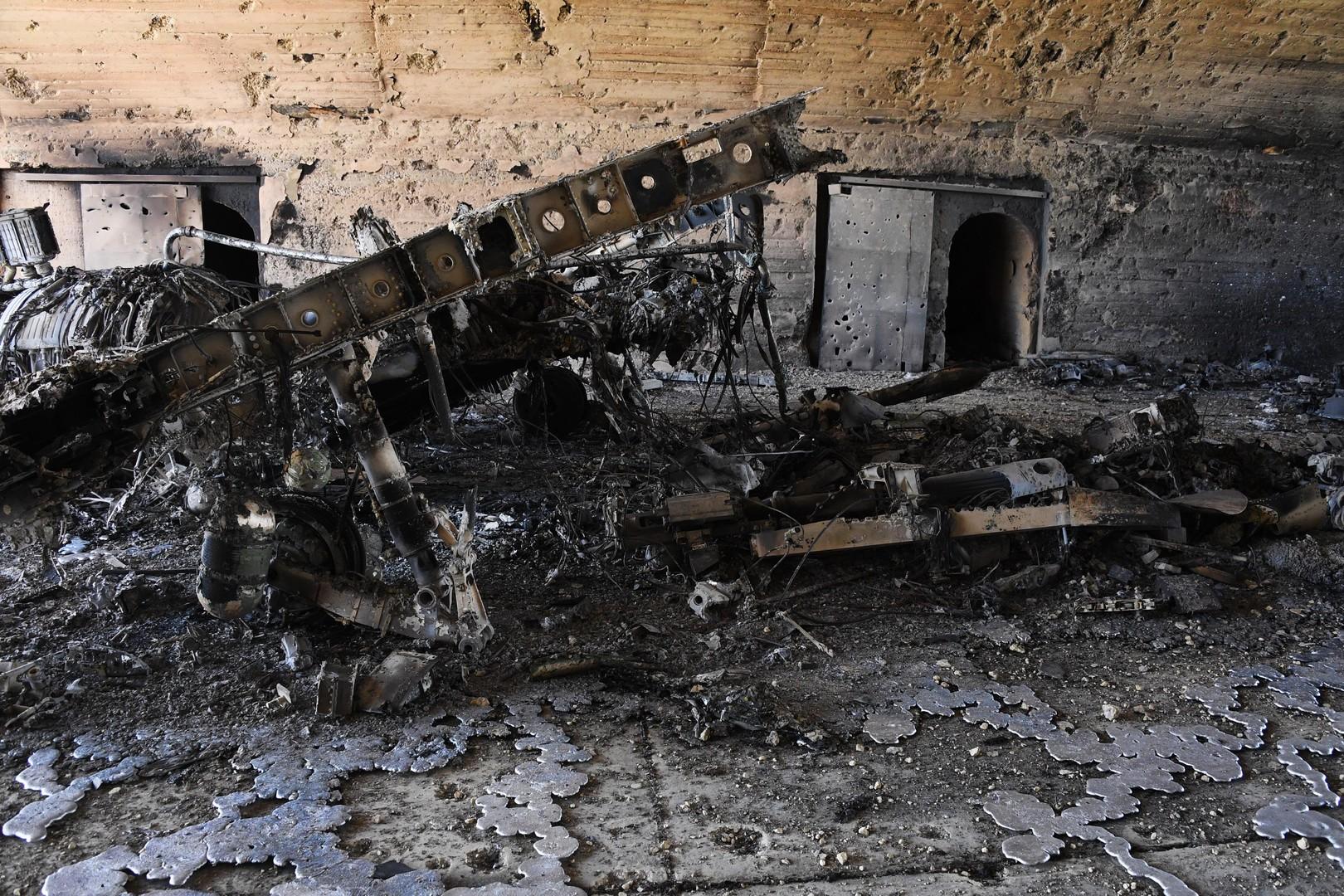 Folgen des US-Luftangriffs auf den syrischen Luftwaffenstützpunkt Al-Schairat