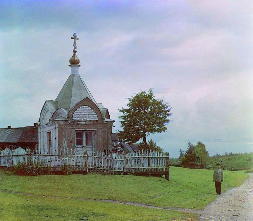 Eine Kapelle in Mjatusowo, Gouvernement Sankt Petersburg.