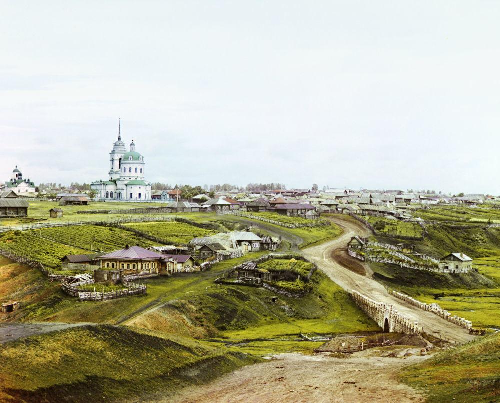 Das Dorf Koltschedan im Ural.