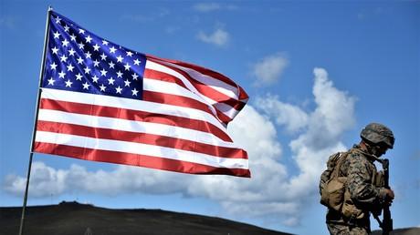 Ein US-amerikanischer Militärangehöriger während der NATO-Übung Agile Spirit 2016 auf dem Übungsplatz