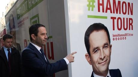 Wahlkampf in Frankreichs Straßen.
