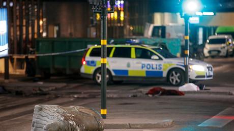 Die Innenstadt von Stockholm kurz nach dem Anschlag.