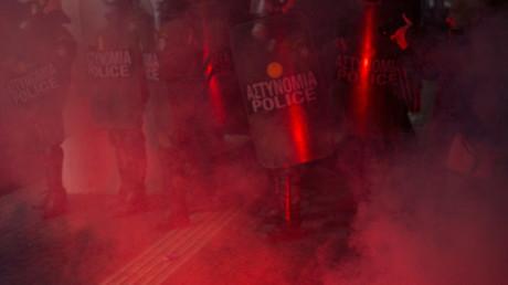 Extremisten randalieren in Athen (Archivbild)