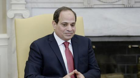 Der ägyptische Präsident Abdel Fattah Al Sisi bei seinem Besuch in Washington, vergangene Woche, bei einem Treffen mit Donald Trump, Washington, DC, 3. April 2017.