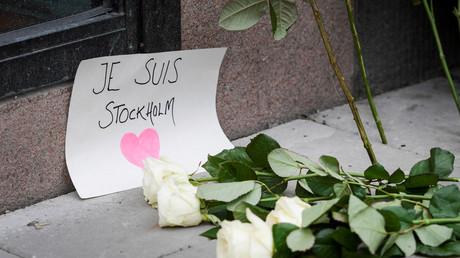 Stockholm nach dem Anschlag: Blumen und Solidaritätsbekundungen; Schweden, 8. April 2017.