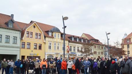 Haldenslebener protestieren für die Rückkehr ihrer Bürgermeisterin