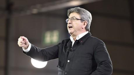 Jean-Luc Mélenchon auf einer Wahlkampfveranstaltung.