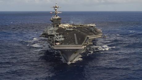 Der amerikanische Flugzeugträger USS Carl Vinson im Pazifischen Ozean, 30. Januar 2017.