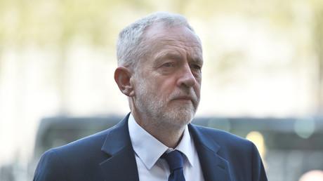 Jeremy Corbyn, Vorsitzender der britischen Arbeiterpartei, bei einer Gedenkveranstaltung in Westminster Abbey, nach dem Terror-Angriff auf der Westminster-Brücke, 5. April 2017.
