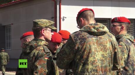 Deutsche Bundeswehrsoldaten bei NATO-Übung in Lettland.
