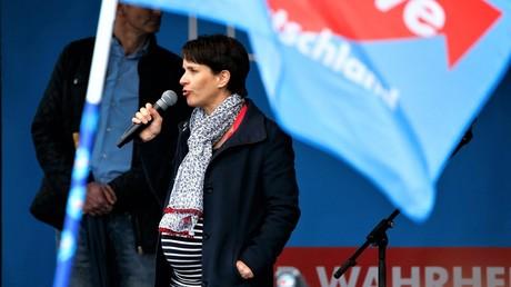 Frauke Petry auf einer Wahlkampfveranstaltung der AfD in Essen am 8. April 2017.