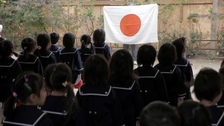Kinder während eines Morgenappells des Tsukamoto-Kindergartens in Oskaka, Japan, 30. November 2016.