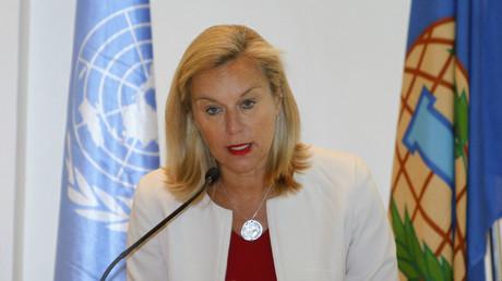 Symbolbild - Sigrid Kaag, Spezialkoordinatorin für die UN-Mission zur Zerstörung des syrischen Chemiewaffen-Arsenals, April 2014.