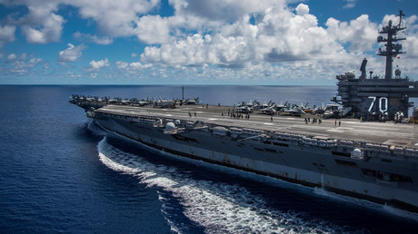 Der Flugzeugträger USS Carl Vinson auf dem Weg von der Philippinischen See nach Nordkorea, 23. April 2017.