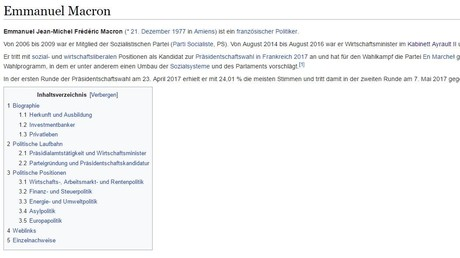 Wikipedia reklamiert für sich ein Höchstmaß an Objektivität und Glaubwürdigkeit. In einem Urteil aus dem Jahr 2012 hat das AG Köln Inhalte der Online-Enzyklopädie sogar als