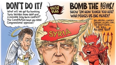 Mit diesem Bild illustrierte Oliver Stone seinen Facebookeintrag zu Donald Trump und Syrien.
