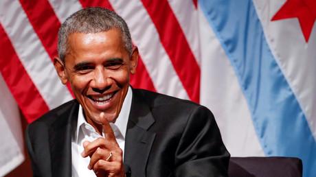 Hat gut lachen - und bald 400.000 Dollar mehr auf seinem Konto: Barack Obama.