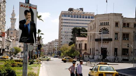 Straßenszene in der syrischen Hauptstadt Damaskus