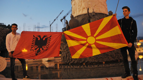 Proteste in Mazedonien (Archivbild)