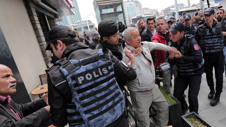 Dutzende Festnahmen bei Mai-Demonstrationen in Istanbul