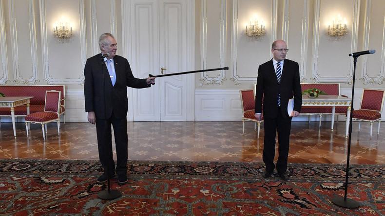 Tschechischer Regierungschef Sobotka zieht Rücktrittsankündigung zurück